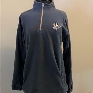 NHL Shirts - Pittsburgh Penguins NHL quarter zip fleece